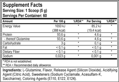 glutamine_maxler_flavored_supplement_facts